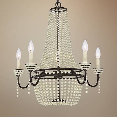 "Quoizel Opera 22 1/2""W Western Bronze 5-Light Chandelier"
