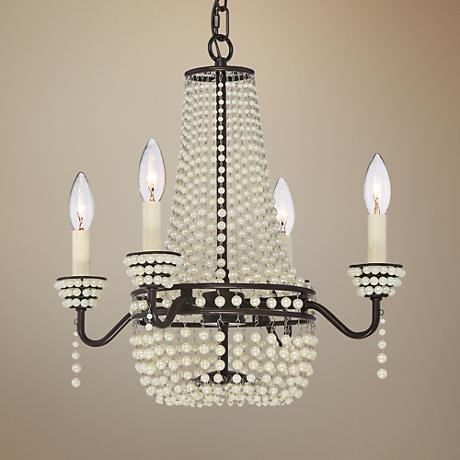"Quoizel Opera 17"" Wide Western Bronze 4-Light Chandelier"