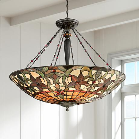 "Quoizel Kami 40"" Wide Vintage Bronze Foyer Pendant Light"