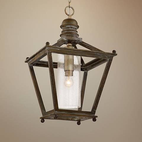 "Quoizel Sanctuary 18 1/4""W Driftwood Foyer Pendant Light"