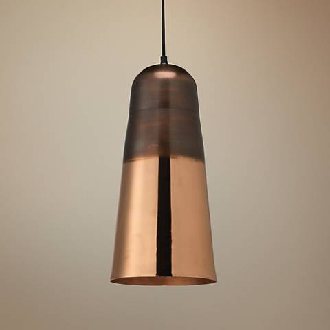 "Jamie Young Pozza 8"" Wide Copper Mini Pendant"