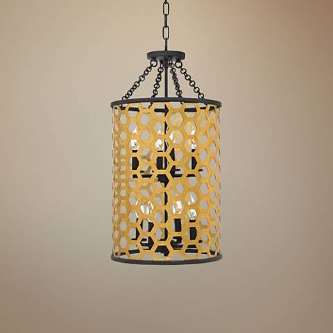 "Fredrick Ramond Felix 14 1/2"" Wide Sunset Gold Pendant Light"