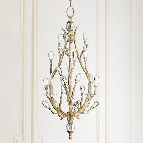 "Fredrick Ramond Eve 18 1/2""W Champagne Gold Pendant Light"