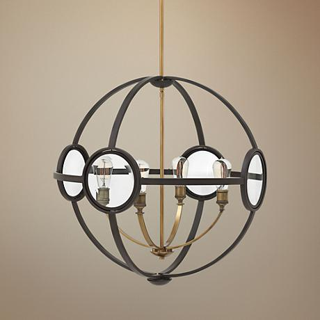 "Hinkley Fulham 26"" Wide Buckeye Bronze 4-Light Pendant"