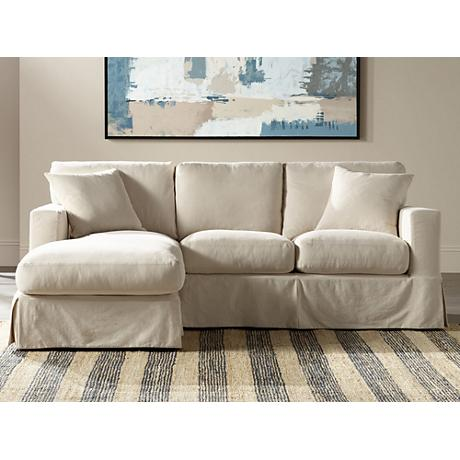 Annalisse Left-Hand Facing 2-Pc Slipcover Chaise Sectional