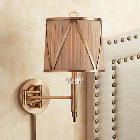 Emerita Gold Plug-In Swing Arm Wall Lamp