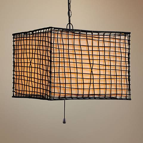 "Kenroy Home Trellis 16"" Wide Bronze Outdoor Pendant Light"