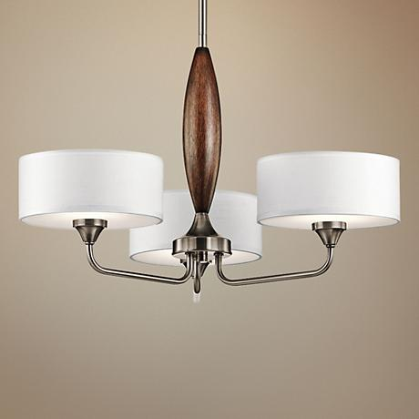 "Kichler Lucille 24""W Classic Pewter 3-Light Chandelier"
