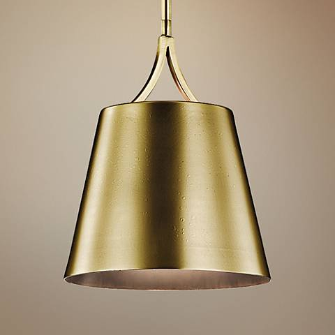 "Kichler Maclain 10"" Wide Natural Brass Mini Pendant"