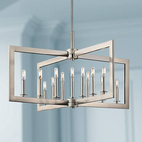 "Kichler Cullen 38 3/4""W Pewter 13-Light Linear Chandelier"