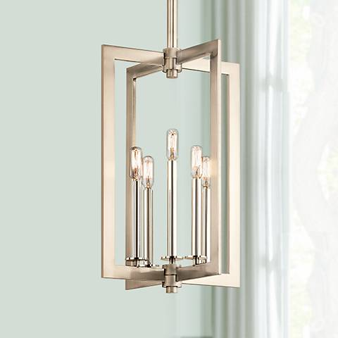 "Kichler Cullen 14""W Pewter 5-Light Large Foyer Pendant"