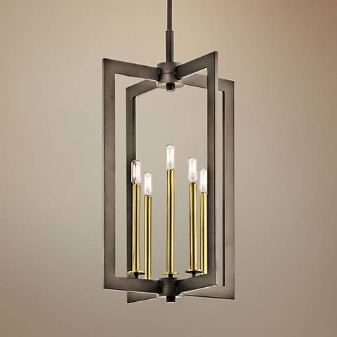 "Kichler Cullen 18"" Wide Olde Bronze 5-Light Foyer Pendant"