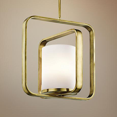 "Kichler City Loft 16 1/4""W Natural Brass Pendant Light"