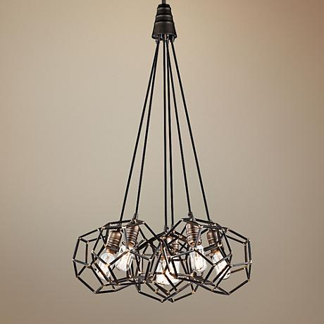 "Kichler Rocklyn 22 3/4"" Wide Steel 6-Light Foyer Pendant"