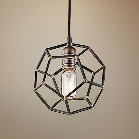 "Kichler Rocklyn 18"" Wide Raw Steel 1-Light Pendant"