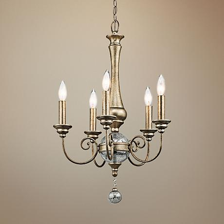"Kichler Rosalie 17 3/4"" Wide Gold 5-Light Mini Chandelier"