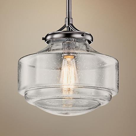 "Kichler Keller 12"" Wide Shadow Nickel Mini Pendant"
