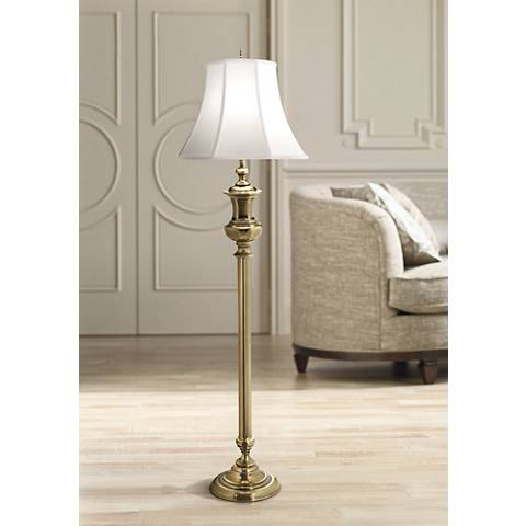 Stiffel Buchanan Burnished Brass Floor Lamp 1x450