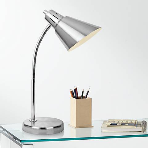 Lite Source Lilia Brushed Nickel Task Desk Lamp