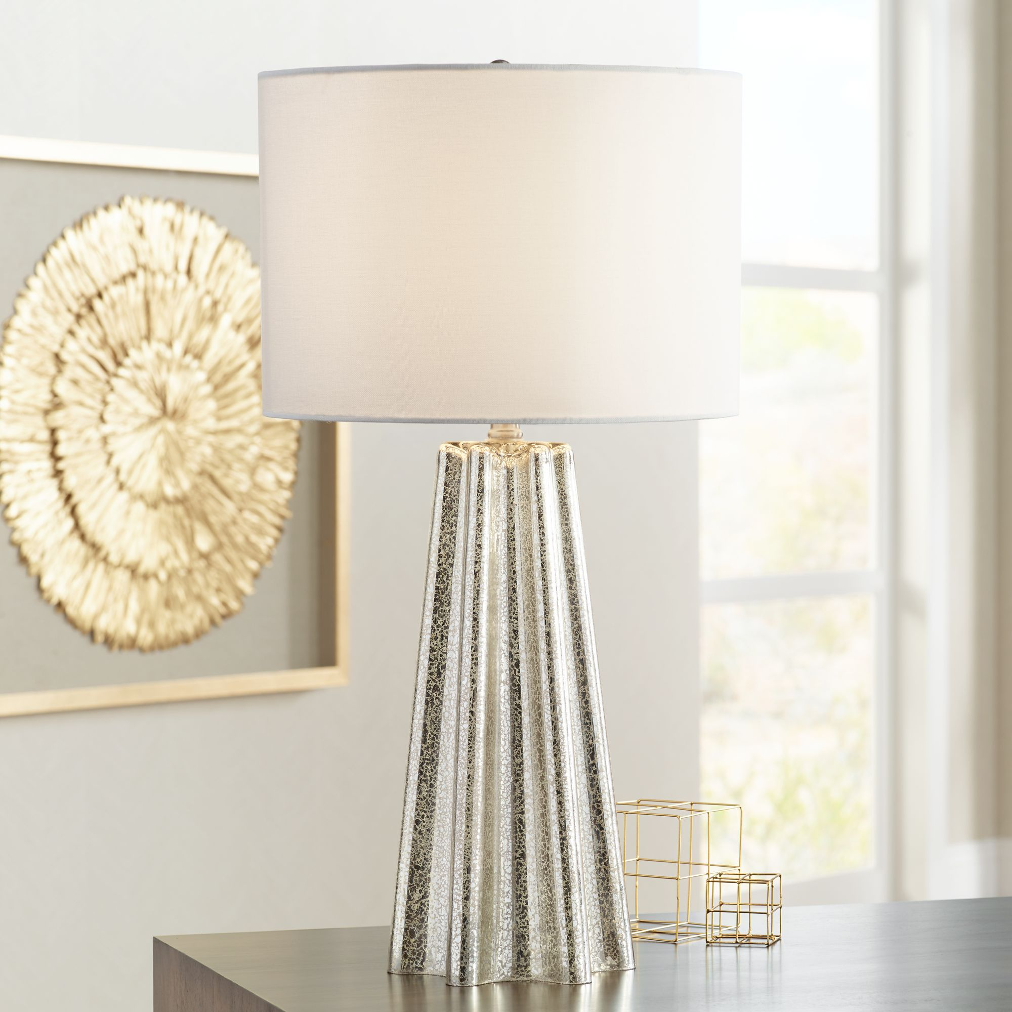 colter mercury glass table lamp - Mercury Glass Table Lamp