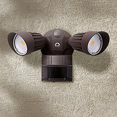 Eco Star 13 W Bronze Motion Sensor LED Security LightMotion Sensor Outdoor Light Fixtures   Lamps Plus. Exterior Motion Detector Led Lights. Home Design Ideas