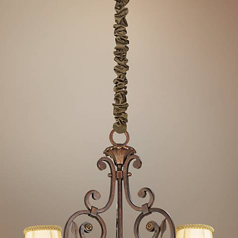 "Bronze Silk 46 1/2"" Long Chandelier Chain Cover"