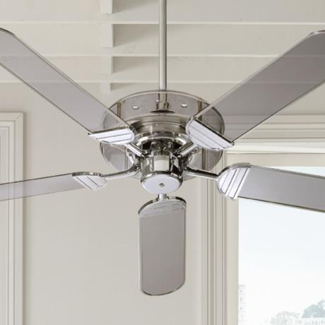 "52"" Quorum Prizzm Acrylic and Chrome Ceiling Fan"