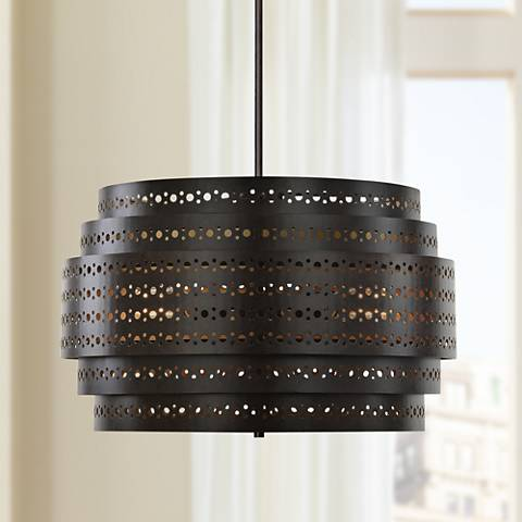 "Uttermost Fuller 22"" Wide Dark Bronze Chandelier"