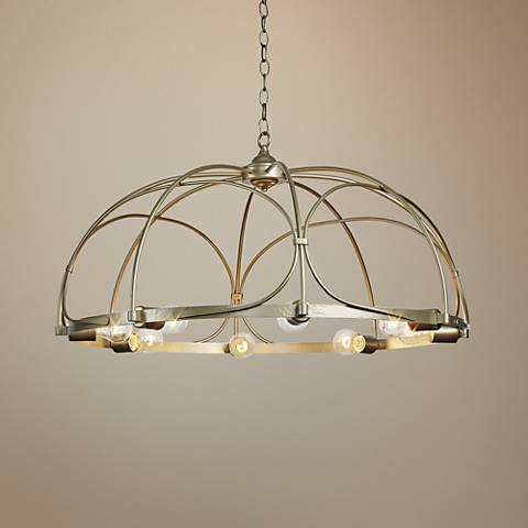 "Hubbardton Forge Arbor 35 1/2"" Wide 8-Light Gold Chandelier"