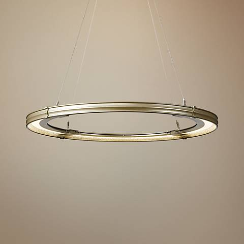 "Synchronicity Aria 34 1/4""W Soft Gold LED Pendant Light"