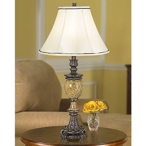 Kathy Ireland's Westminster Faux Marble Urn Table Lamp