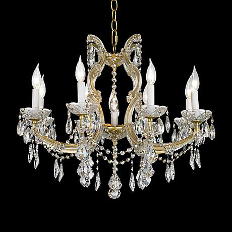 "James R. Moder 25"" Wide Maxfield Gold Chandelier"