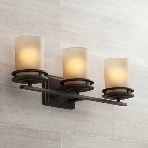 "Hendrik Bronze 24"" Wide Bathroom Light Fixture"