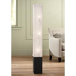 Textured Clear Acrylic Rectangular Floor Lamp