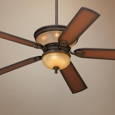 "60"" Casa Vieja Brighton Way Golden Bronze Ceiling Fan"