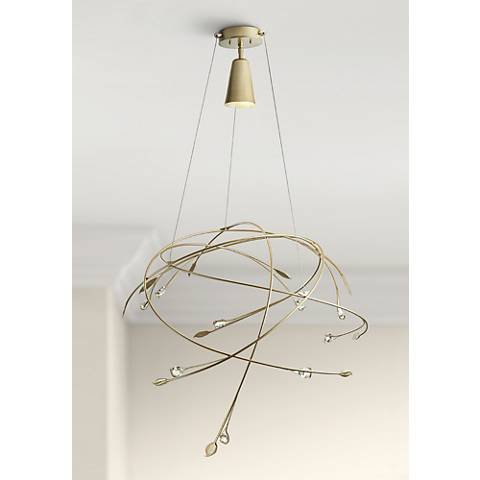 "Synchronicity Gaia 31 1/2"" Wide Soft Gold Pendant Light"