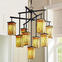 Sedona Collection 32 1 2 Wide 9 Light Art Gl Chandelier