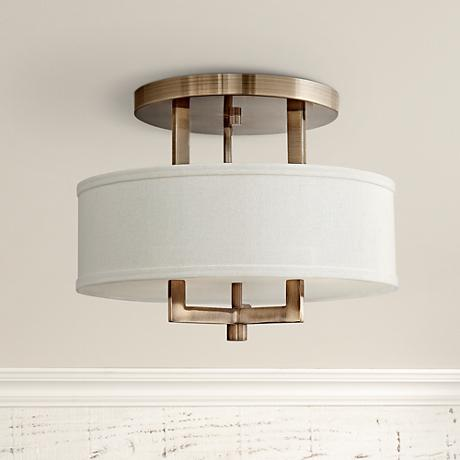 "Hinkley Hampton 15"" Wide Brushed Bronze Ceiling Light"