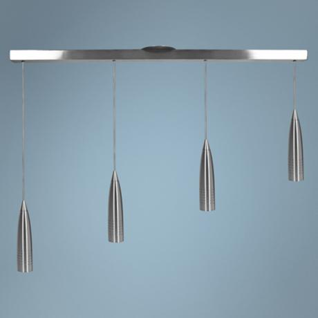 Odyssey Collection Four Light Adjustable Pendant Chandelier