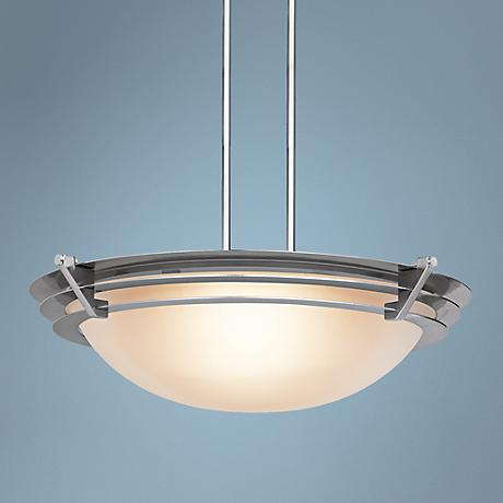 Saturn Brushed Steel Contemporary Pendant Light