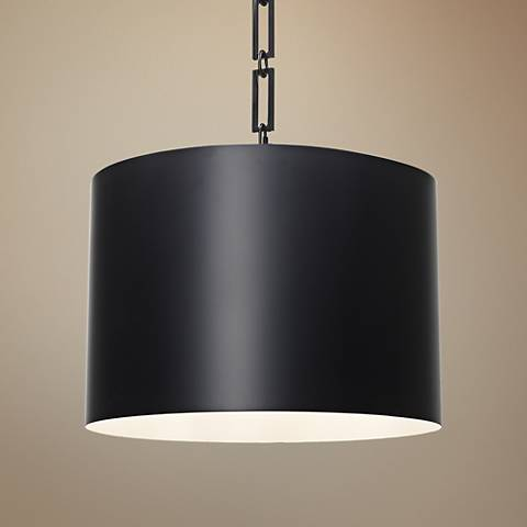 "Crystorama Alston 20"" Wide Matte Black Pendant Light"