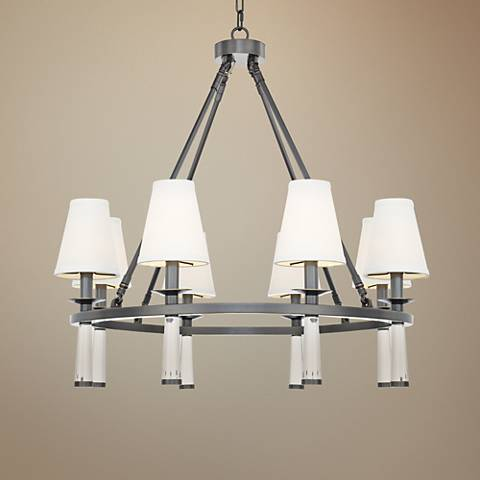 "Crystorama Baxter 31 1/2""W Rubbed Bronze 8-Light Chandelier"