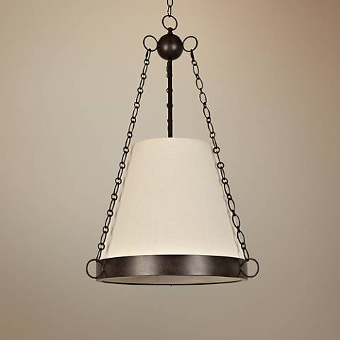 "Crystorama Ellis 20"" Wide Charcoal Bronze Pendant Light"