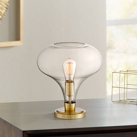 "Possini Euro Becca 12 1/4"" High Glass Accent Table Lamp"