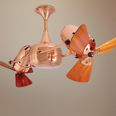 "36"" Matthews Duplo Dinamico Polished Copper Ceiling Fan"