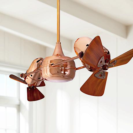 "36"" Matthews Duplo Dinamico Dual-Head Copper Ceiling Fan"
