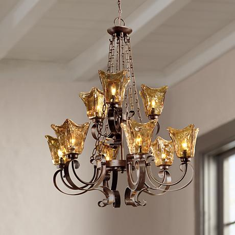 Uttermost Vetraio Collection Nine Light Chandelier