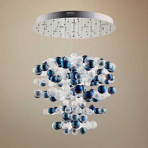"Cyan Design Champagne Circus 33 1/2""W Chrome Pendant Light"