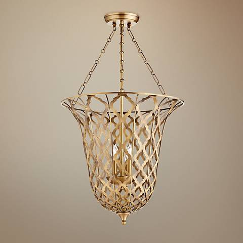 "Cyan Design Guinevere 20 1/4""W Aged Brass 4-Light Pendant"