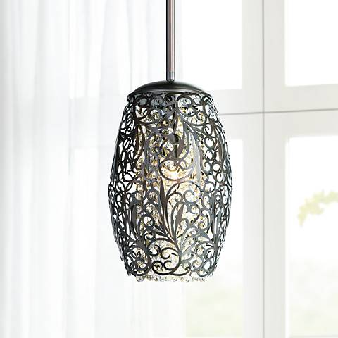 "Maxim Arabesque 6 1/2"" Wide Oil Rubbed Bronze Mini Pendant"